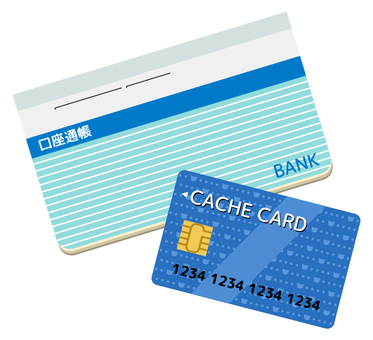 Passbook and cash card 2