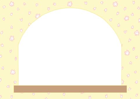 Window frame Sakura side ②