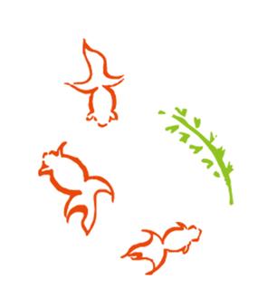Japanese style goldfish