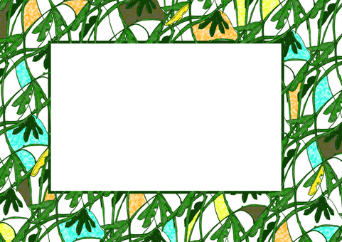 Green soybean frame