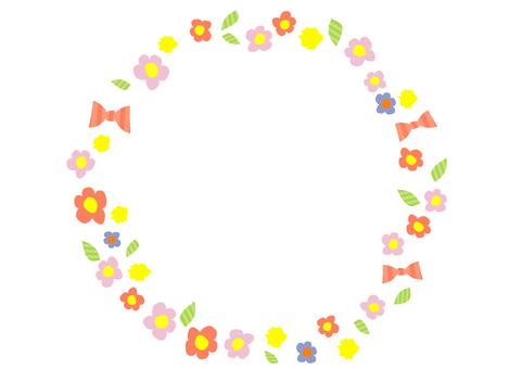 Flower ribbon frame