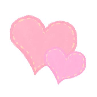 Heart double mesh