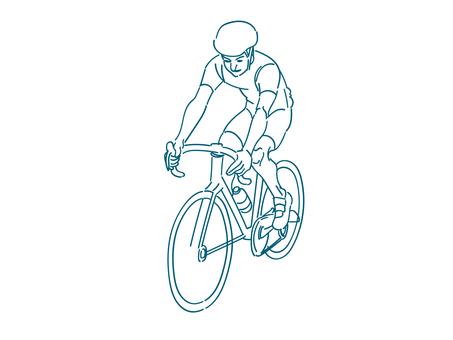 サイクリング線画
