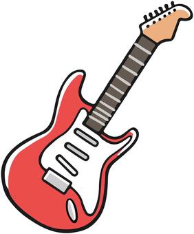 빨간 일렉트릭 기타