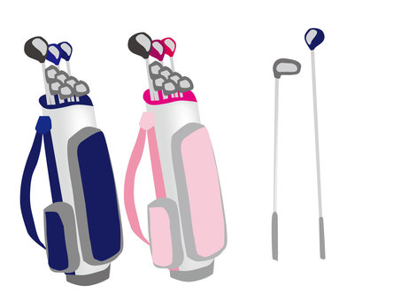 Golf club and golf caddy back