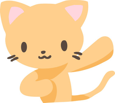 A cat raising his hand