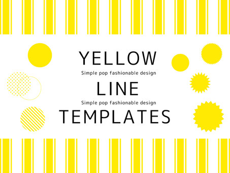 Simple frame <01> of yellow line