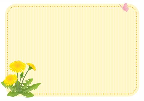 Dandelion decorative frame