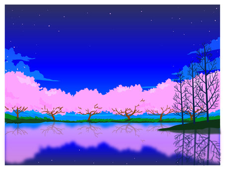 Lakeside cherry blossoms CS2