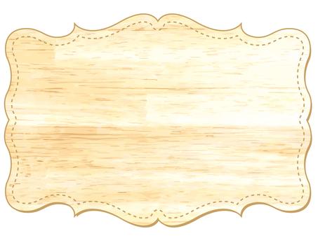 看板フレーム枠クラシック木目板飾り額北欧