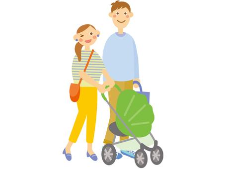 Parent / child _ baby stroller _ 1