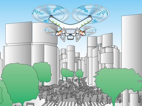 Tokyo Sightseeing (6) Shibuya Crossing Drone
