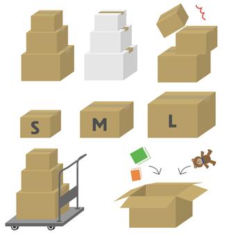 Cardboard size set