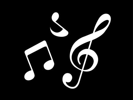 Music note set 2 black
