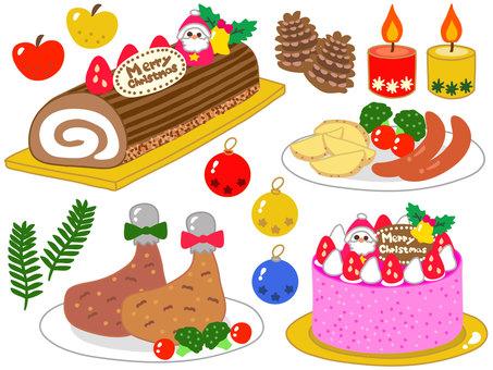 Christmas feast set