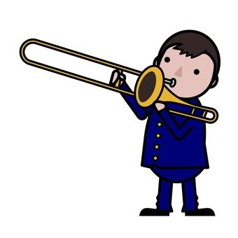 One day of junior high and high school students - brass band
