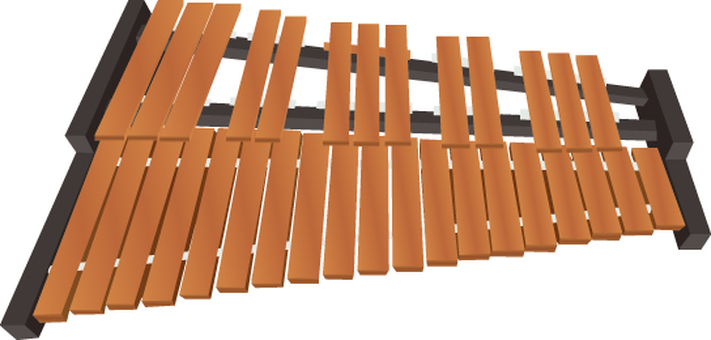 Musical instrument series xylophone
