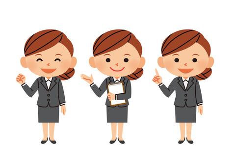 Office worker female 01