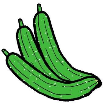 3 cucumbers