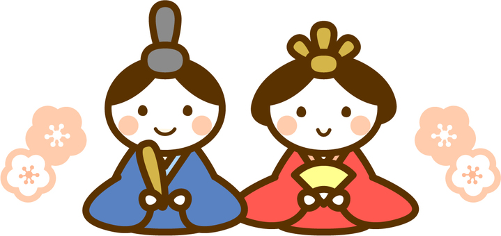 Illustration of a hina doll
