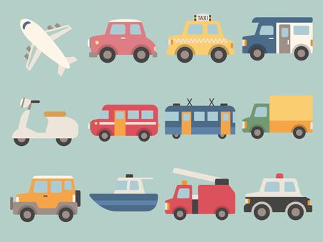 Vehicle illustration set