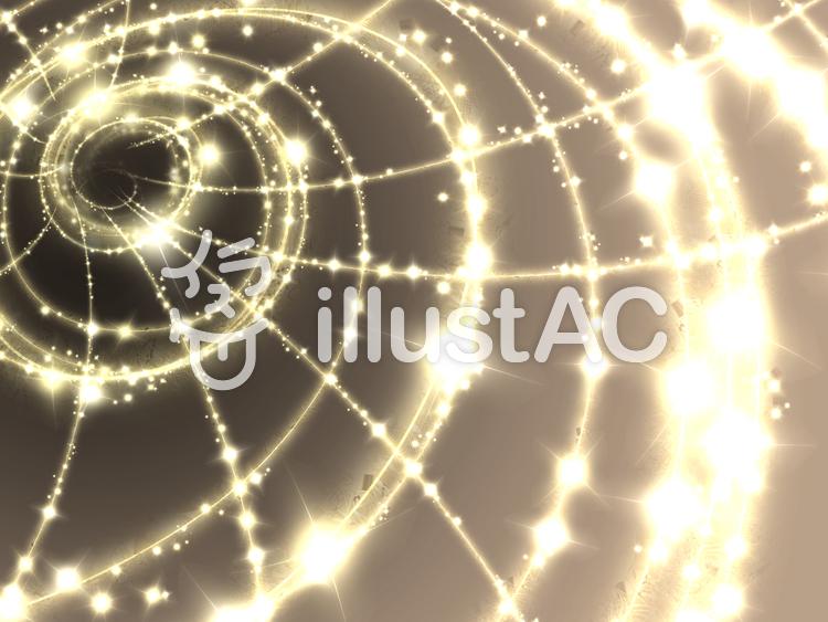 光の螺旋のイラスト