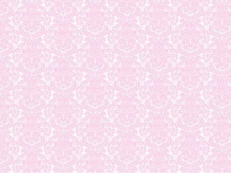 Damask pattern of roses Pink