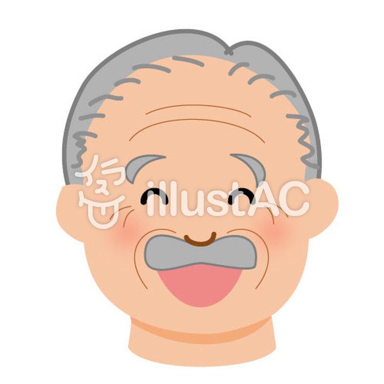 笑顔のおじいさんイラスト No 114526無料イラストならイラストac