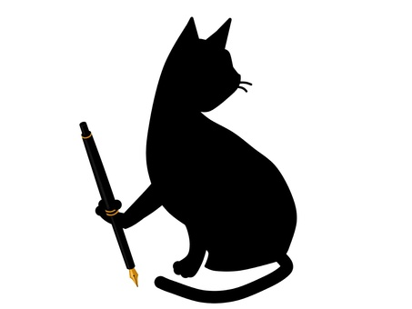 Cat fountain pen