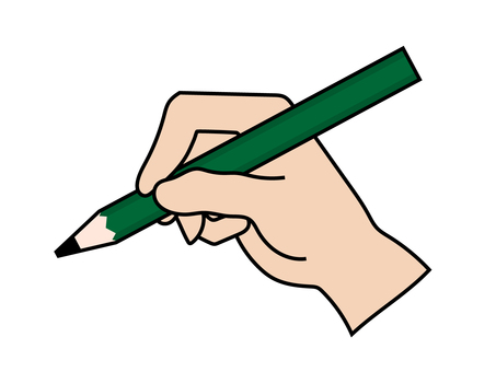 Hand (how to hold a pencil)