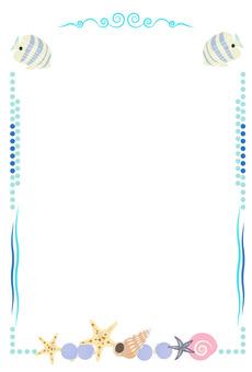 Sea material frame