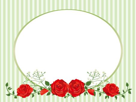 Red rose garland decoration card 11