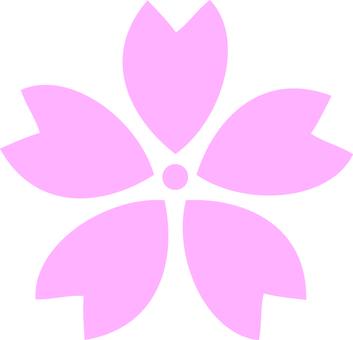 One cherry blossom petal