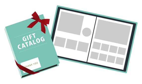 Gift catalog page Blue