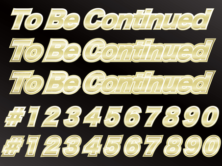 Metallic characters 1 that can be used for numbering