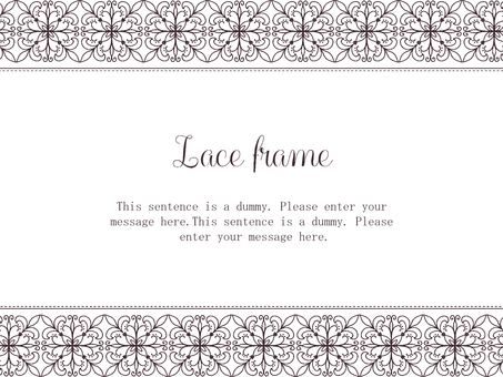 Lace frame 02 / brown
