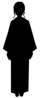A woman in a kimono