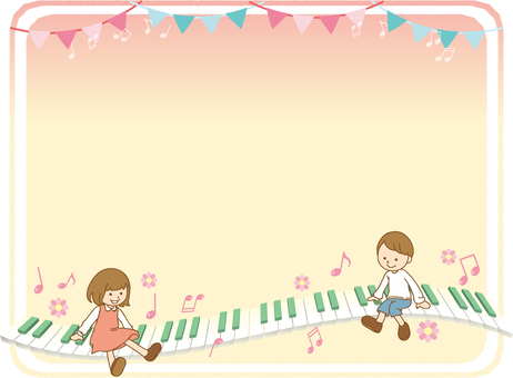Piano and children's background