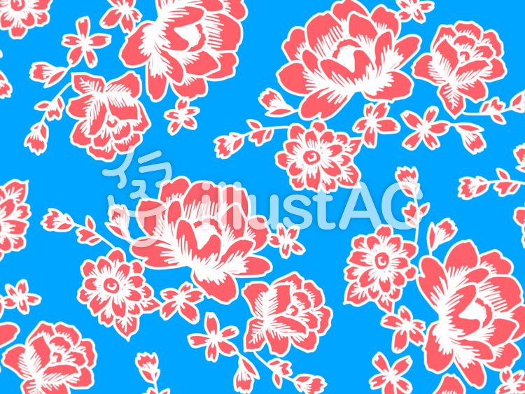 台湾の花布 壁紙4のイラスト