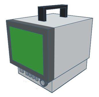 Transistor type portable TV