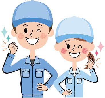 Wink Guts Working Wear Blue Pair
