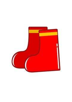 Red children's boots