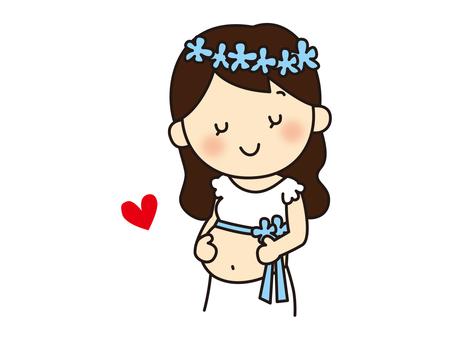 출산 사진을 촬영하는 임산부