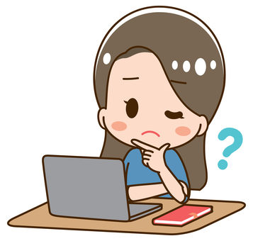 Young woman looking at laptop