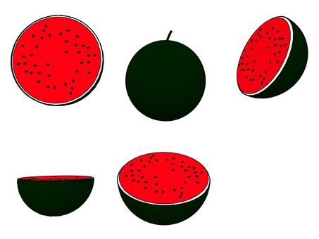 Black Small watermelon