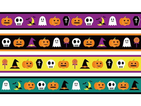 Halloween masking tape style