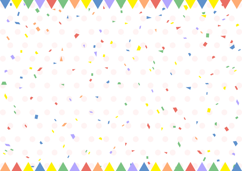 Garland confetti dot background