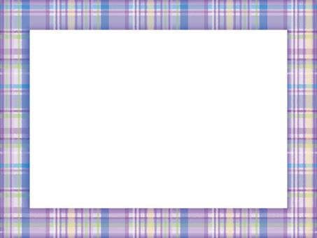 Decorative frame check 02 purple