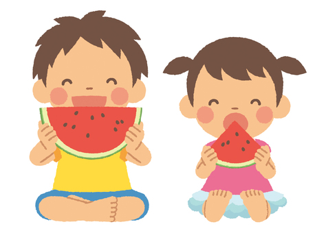 Children who eat watermelons