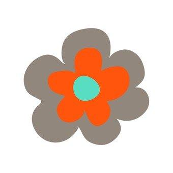 Scandinavian flowers (orange)
